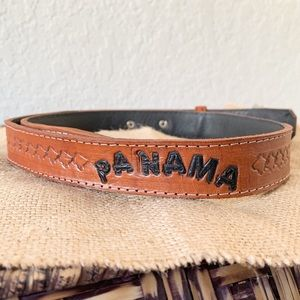 Vintage tooled belt